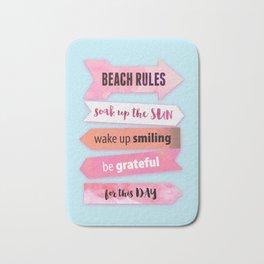 Summer Beach Rules Bath Mat