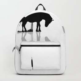 Horses by the water Backpack