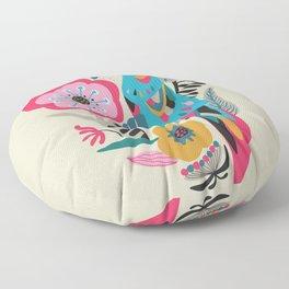 PARROT AT THE GARDEN Floor Pillow