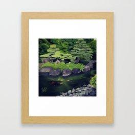 The Koi of Koko-en Garden Framed Art Print