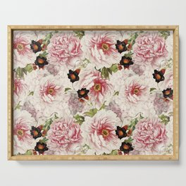 Small Vintage Peony and Ipomea Pattern - Smelling Dreams Serving Tray