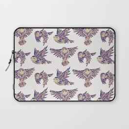 Owls in Flight – Mauve Palette Laptop Sleeve