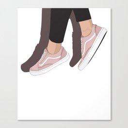 Dangling Vans Canvas Print