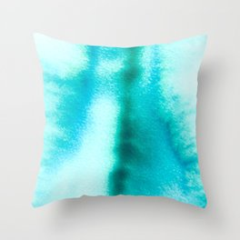 Bloom in Blue Throw Pillow