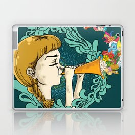 Girl with Trumpet Laptop & iPad Skin