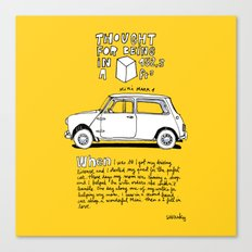 Mini Copper Classic. Thought for being in a box 152 ft³. Canvas Print