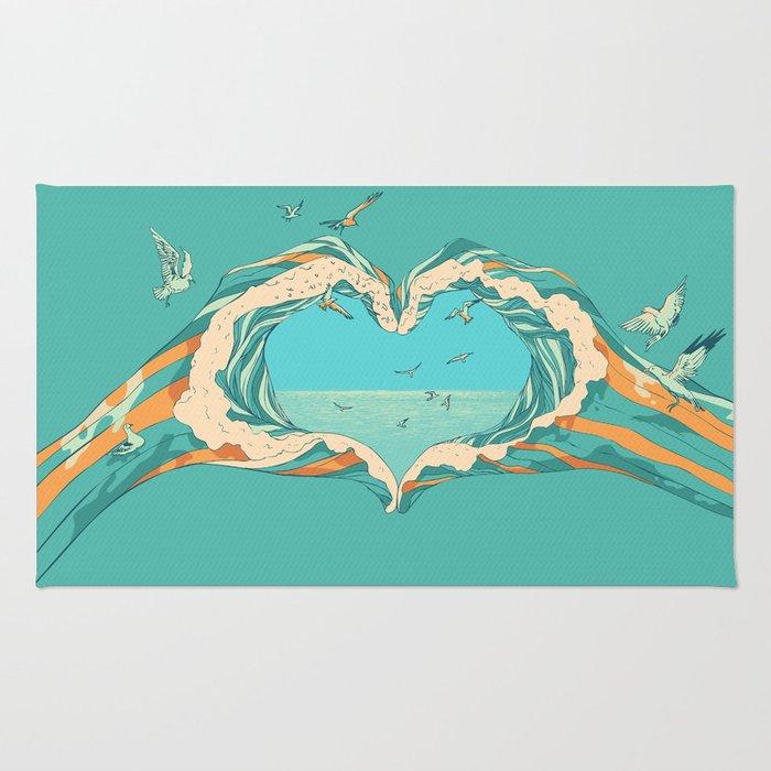 My Heart & The sea Rug