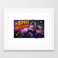 space dandy Framed Art Prints featuring Space Dandy by Savodraws