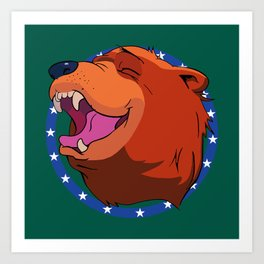 Bear for Hire Art Print