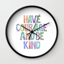 Typography Quote, Motivational Poster, Wall Decor, digital download, Nursery Decor,Have Courage Wall Clock