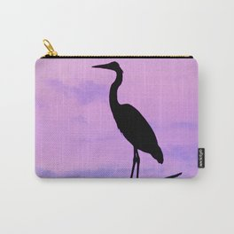 Heron Silhouette II Carry-All Pouch