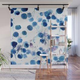 Climbing in Blue Wall Mural