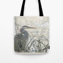 Heron blanket Tote Bag
