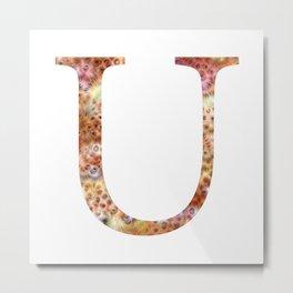 """Initial letter """"U"""" Metal Print"""