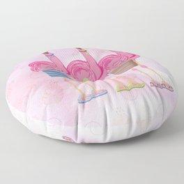 Flamingo Friends Shopping Floor Pillow