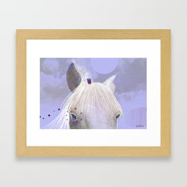Behind the fence Framed Art Print