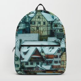 Winter houses Backpack