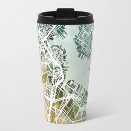 Boston Massachusetts Street Map Travel Mug