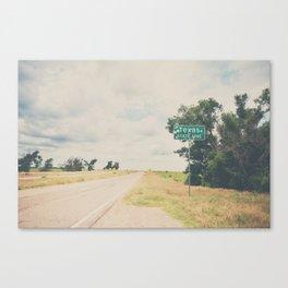 Texas state line ... Canvas Print