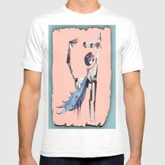 re:2 White MEDIUM Mens Fitted Tee