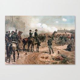 General Sherman Observing The Siege of Atlanta Canvas Print