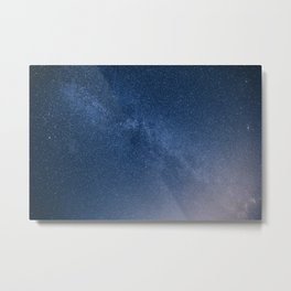 Blue Galaxy Metal Print