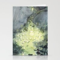 the lights Stationery Cards featuring Lights by Paola Cocchetto