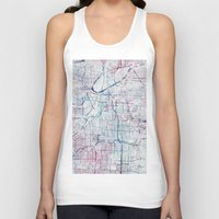 kansas city Tank Tops featuring Kansas city map by MapMapMaps.Watercolors