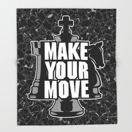 Make Your Move Chess Throw Blanket