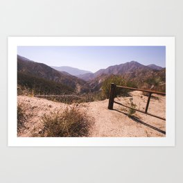Deep Into Angeles National Forest  Art Print