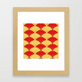 Fan texture Framed Art Print