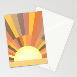 Retro Sun 2 Stationery Cards