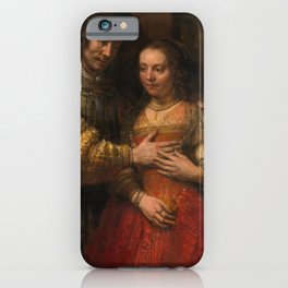 Rembrandt - Isaac and Rebecca, or The Jewish Bride (1668) iPhone Case