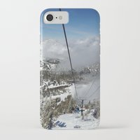 skiing iPhone & iPod Cases featuring Skiing by Bryden McDonald