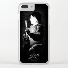 Georges de La Tour-Joseph the Carpenter-Detail-Painter-Barroque-painting Clear iPhone Case