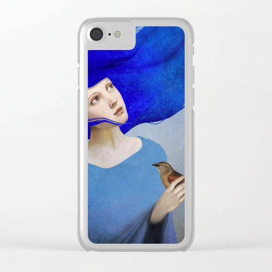 Night Bird Clear iPhone Case