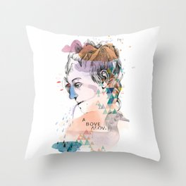 Mountain Head Throw Pillow