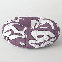 Picasso Pattern - Purple Background Floor Pillow