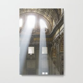 Sun rays in the Vatican, Italy Metal Print