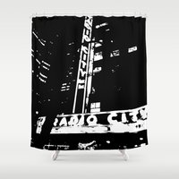 nyc Shower Curtains featuring NYC by Miranda Williams