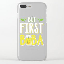 Boba Bubble Tea Tapoica Lover Clear iPhone Case