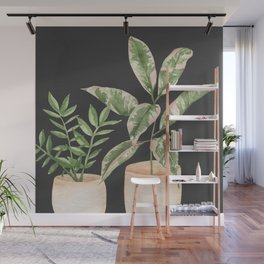 Pair of House Plants Wall Mural