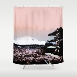 Japanese Landscape  Shower Curtain