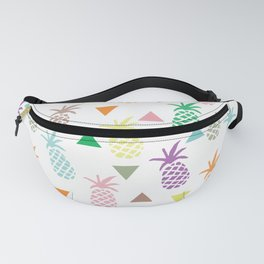 Multi Colored Pineapples and Triangles Fanny Pack