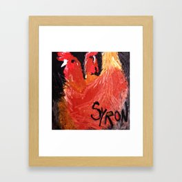 Hens Framed Art Print