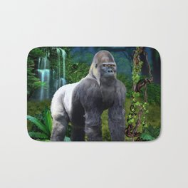 Silverback Gorilla Guardian of the Rainforest Bath Mat