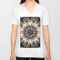 aztec V-neck T-shirts featuring Aztec by IowaShots