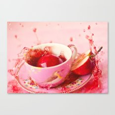Apple splash Canvas Print