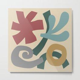 Mid Century Modern Organic Abstraction 923 Metal Print