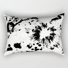 MONOCHROME SPLATTER Rectangular Pillow